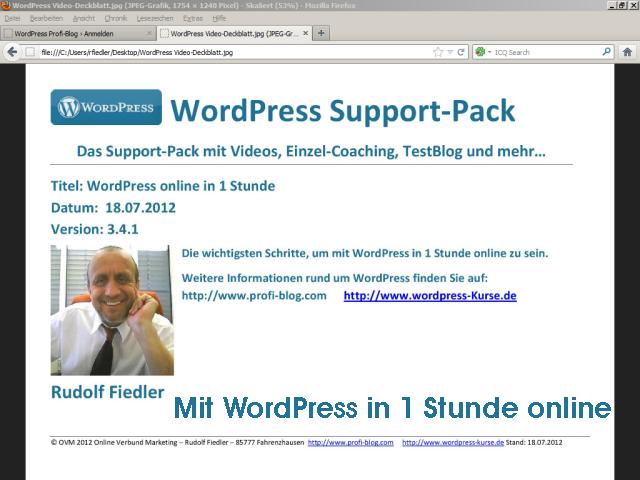 Mit WordPress in 1 Stunde online